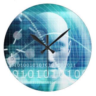 Reloj Redondo Grande Científicos de la educación y el convertirse de la