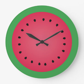 Reloj Redondo Grande Cocina divertida de Foodie de la rebanada jugosa