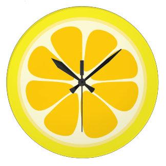 Reloj Redondo Grande Cocina jugosa de la rebanada de la fruta tropical