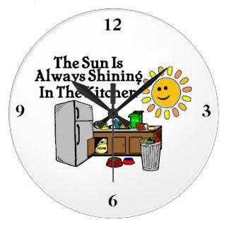 Reloj Redondo Grande Cocina soleada