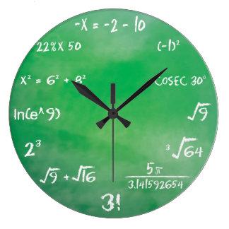 Reloj Redondo Grande Concurso de la ecuación de las matemáticas para