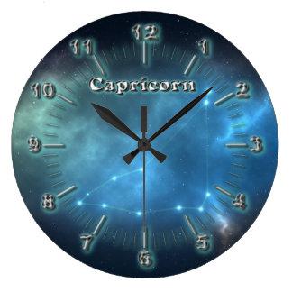 Reloj Redondo Grande Constelación del Capricornio