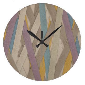 Reloj Redondo Grande Correas de cuero