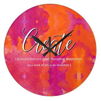 Reloj Redondo Grande Cree el diseño inspirado