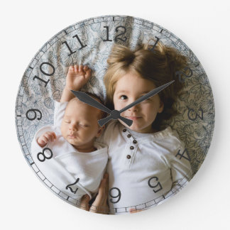 Reloj Redondo Grande Cree su propia foto de encargo moderna