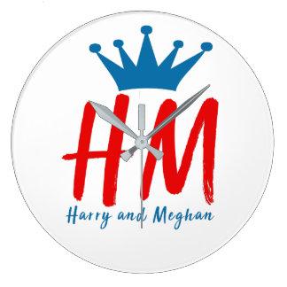 Reloj Redondo Grande Cuando Harry resolvió Meghan