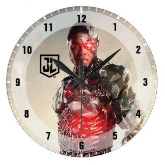 Reloj Redondo Grande Cyborg de la liga de justicia el | en campo de