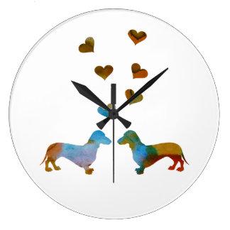 Reloj Redondo Grande Dachshunds