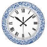 Reloj Redondo Grande Damasco subió Tudor azul y blanco