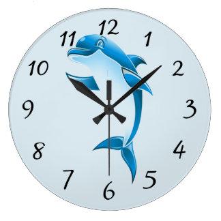Reloj Redondo Grande Delfín del dibujo animado