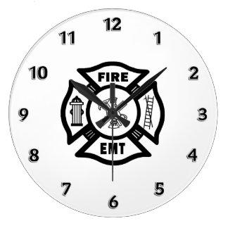 Reloj Redondo Grande Departamento EMT del fuego