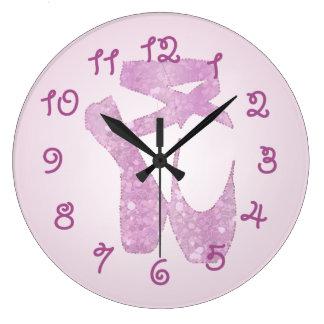 Reloj Redondo Grande deslizadores rosados