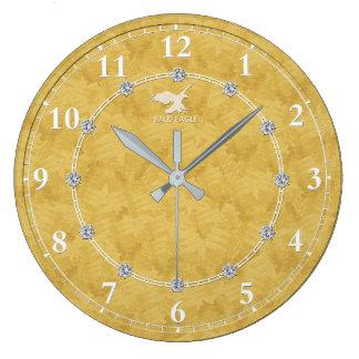 Reloj Redondo Grande Diamante 2 adornados modernos del oro una venta