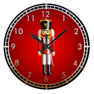 Reloj Redondo Grande Dibujo animado divertido del soldado de juguete
