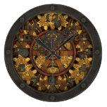 Reloj Redondo Grande Diente adornado de Steampunk con la cara