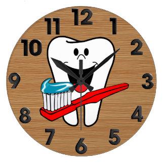 Reloj Redondo Grande Diente sano