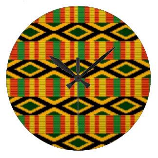 Reloj Redondo Grande Diseño africano de la impresión del modelo del