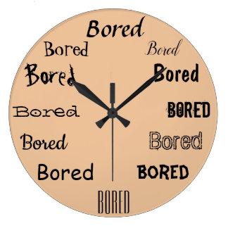 Reloj Redondo Grande Diseño agujereado de la impresión de la palabra