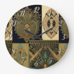 Reloj Redondo Grande Diseño artístico Art Nouveau Cristóbal