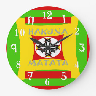 Reloj Redondo Grande Diseño asombroso hermoso de Hakuna Matata