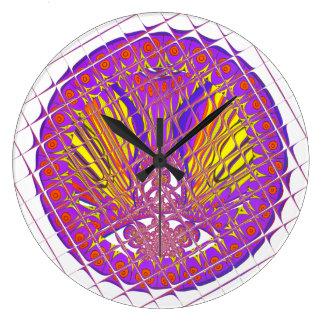 Reloj Redondo Grande Diseño colorido asombroso del modelo del ciruelo