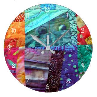 Reloj Redondo Grande Diseño del batik que acolcha
