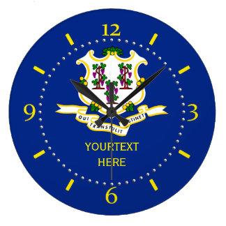 Reloj Redondo Grande Diseño personalizado de la bandera del estado de