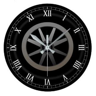 Reloj Redondo Grande Diseño temático auto de la rueda de coche