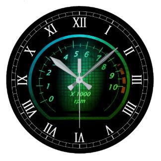 Reloj Redondo Grande Diseño temático auto del dial del coche