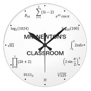 5bf84bd44064 Reloj Redondo Grande Ecuaciones y notaciones de la matemáticas