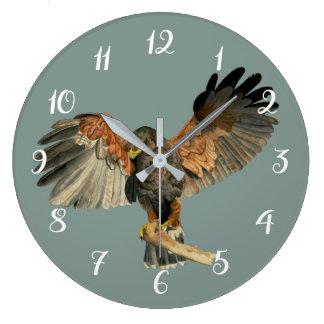 Reloj Redondo Grande El aleteo del halcón se va volando la pintura de