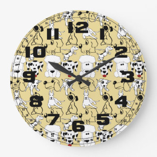Reloj Redondo Grande El ir a los regalos del perro del veterinario de