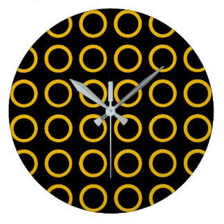 Reloj Redondo Grande El oro circunda negro