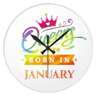Reloj Redondo Grande El Queens es en enero regalo de cumpleaños nacido