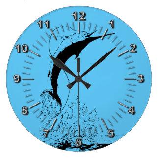 Reloj Redondo Grande El salto de la aguja