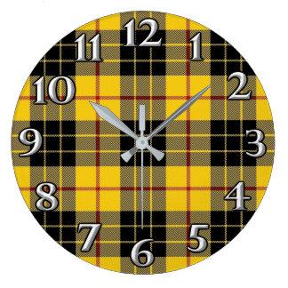 Reloj Redondo Grande El tiempo escocés acentúa el tartán de MacLeod del
