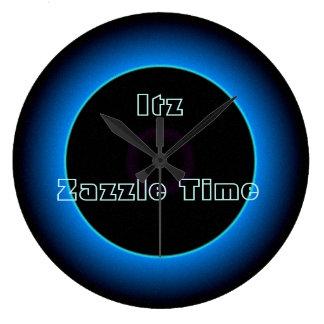 """Reloj Redondo Grande """"El >Wall iluminado del texto del tiempo de Itz"""