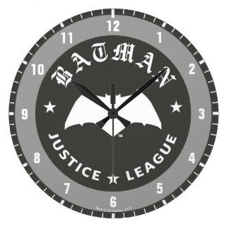 Reloj Redondo Grande Emblema retro del palo de la liga de justicia el |