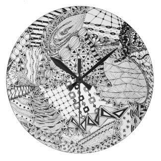 Reloj Redondo Grande Enredo negro y blanco personalizado ZIA 01 de