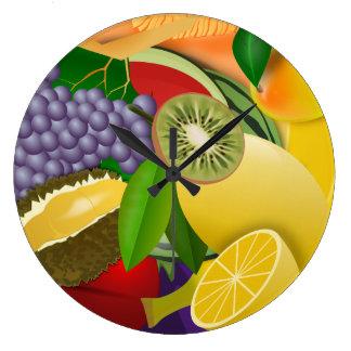 Reloj Redondo Grande Ensalada de fruta