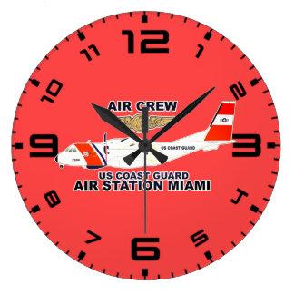 Reloj Redondo Grande Equipo del aire de Miami de la estación aérea de