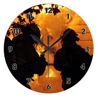 Reloj Redondo Grande Equipo del bombero