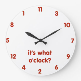 Reloj Redondo Grande ¿Es lo que en punto?