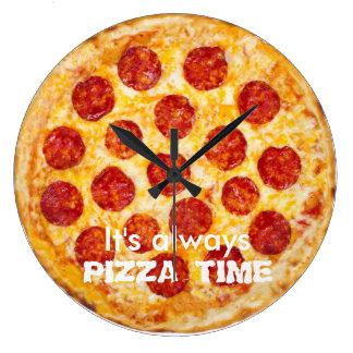 Reloj Redondo Grande Es siempre TIEMPO de la PIZZA