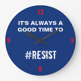 Reloj Redondo Grande Es siempre un buen rato de resistir el azul blanco
