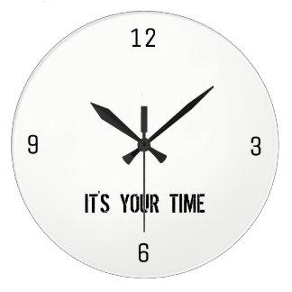 Reloj Redondo Grande Es su tiempo