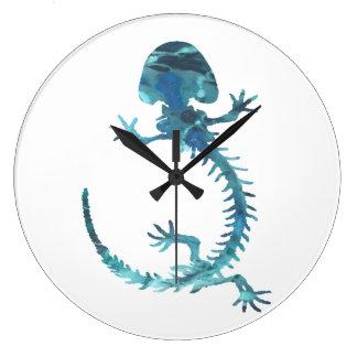 Reloj Redondo Grande Esqueleto de Hellbender
