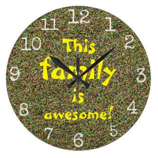Reloj Redondo Grande Esta familia es diseño impresionante de las
