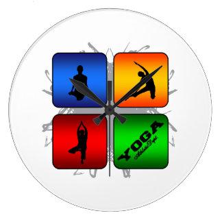 Reloj Redondo Grande Estilo urbano de la yoga asombrosa