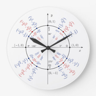 Reloj Redondo Grande Estudiante divertido del empollón del friki de la